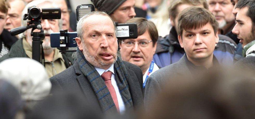 Václav Klaus mladší na Národní třídě