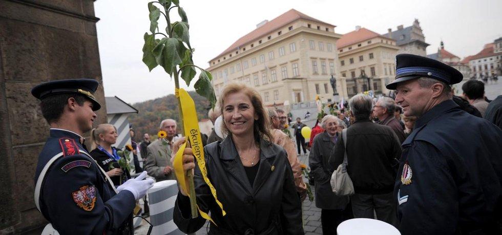 Daniela Rázková na předvolební akci