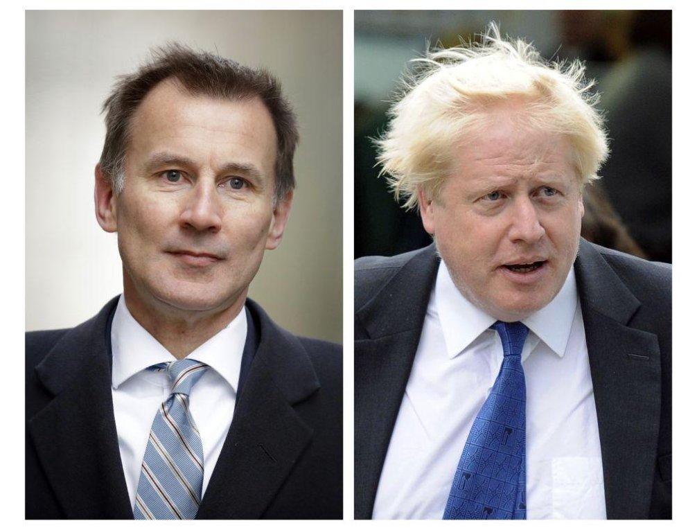 Jeremy Hunt a Boris Johnson