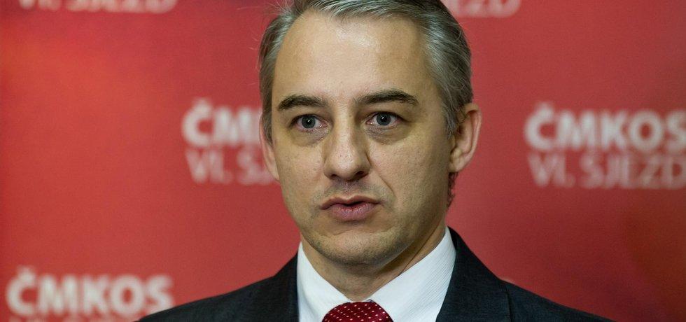 předseda Českomoravské konfederace odborových svazů Josef Středula