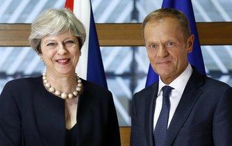 Britská premiérka Theresa Mayová a předseda Evropské rady Donald Tusk