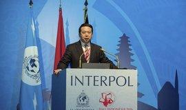 Hlasování o přijetí nových členů se uskutečnilo na valném shromáždění Interpolu v Pekingu. Na snímku šéf Interpolu Meng Chung-wej