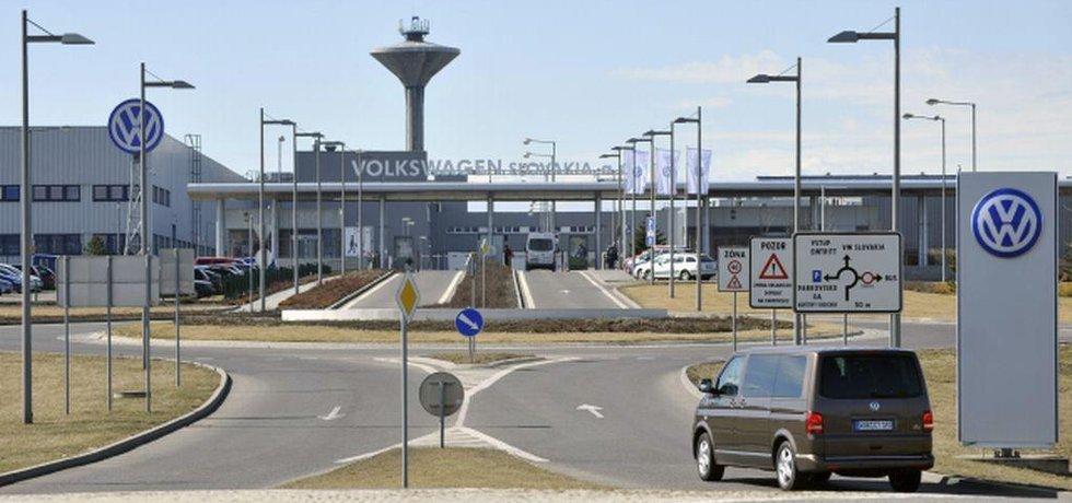 Výrobní závod automobilky Volkswagen v Bratislavě.