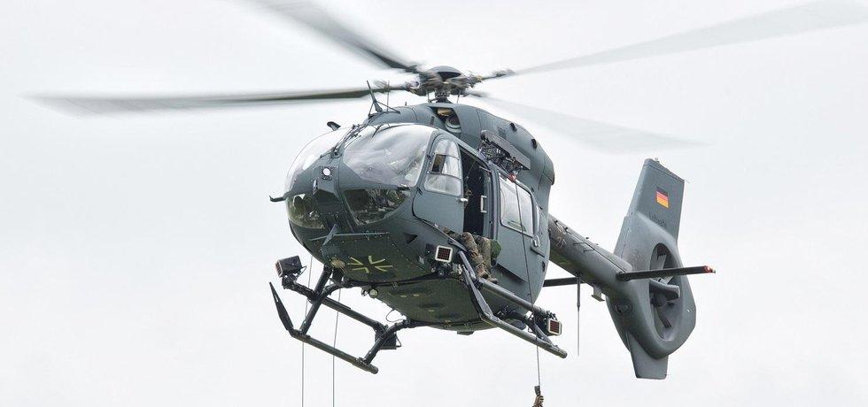 Patnáct vrtulníků H145M si nyní pořizují speciální jednotky německé armády (na obrázku), dalších pět zamíří do Thajska, devět si nedávno objednalo i Srbsko.