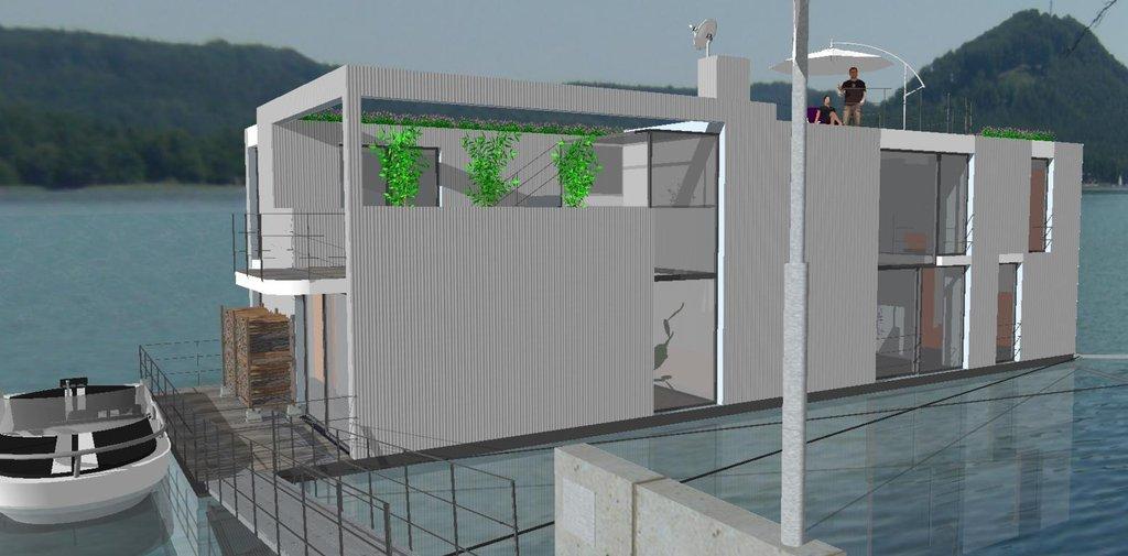Na začátku byla myšlenka realizovat ekologické bydlení na vodě.