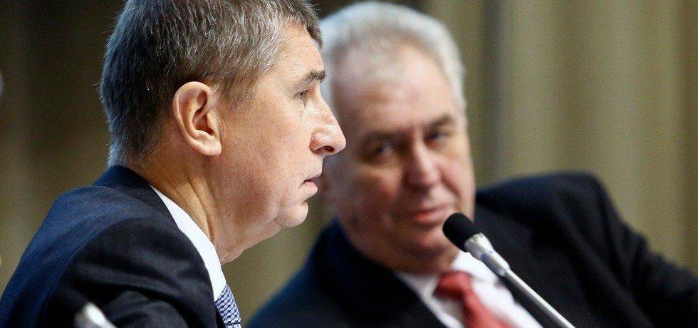 Političtí spojenci Andrej Babiš a Miloš Zeman