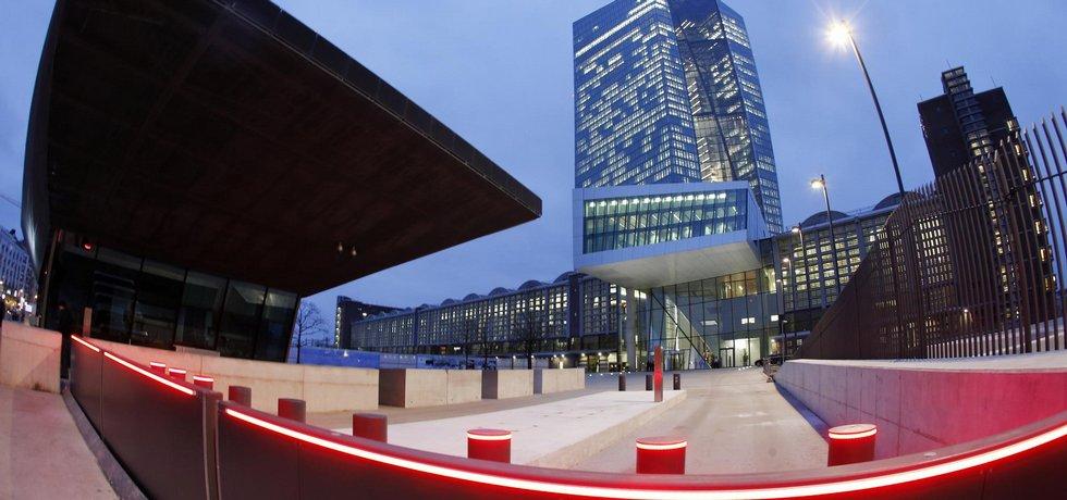 Sídlo ECB ve Frankfurtu, ilustrační foto