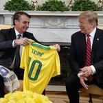Setkání  Donalda Trumpa s brazilským prezidentem Jairem Bolsonarem