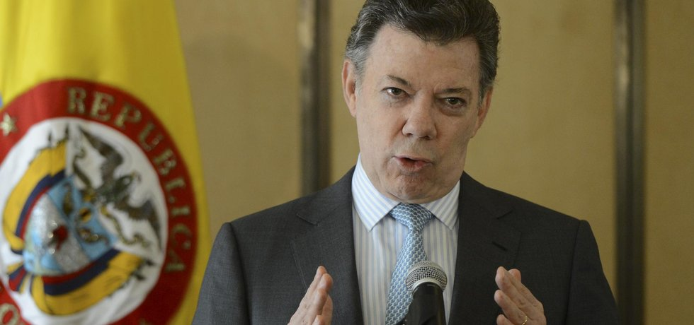 Kolumbijský prezident Juan Manuel Santos (Zdroj: čtk)