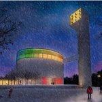 Návrh kostela, který bude stát na sídlišti Lesná v Brně