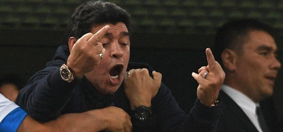 Diego Maradona na MS v Rusku