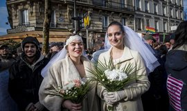Sňatek lesbiček - ilustrační foto