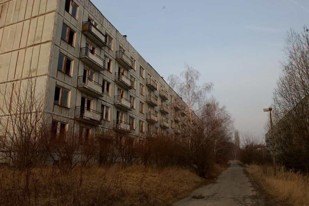 Milovice, sídliště v okolí Božího Daru, rok 2012