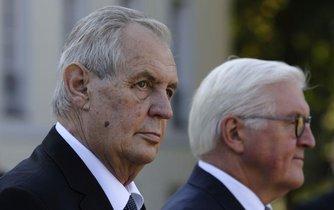 Prezident Miloš Zeman se svým protějškem Frankem-Walterem Steinmeierem