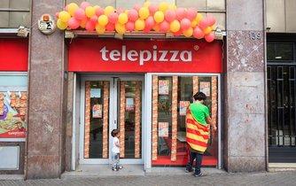 Pobočka řetězce telepizza v katalánské Barceloně