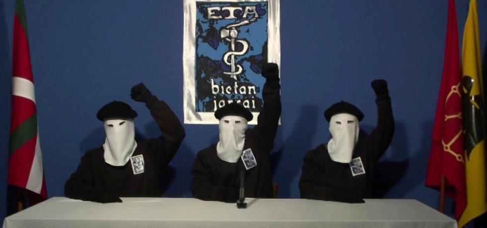 Členové baskické separatistické skupiny ETA