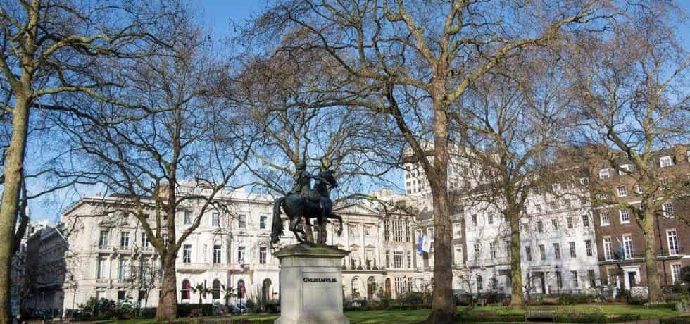 Londýnské St James's Square, ilustrační foto