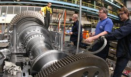 Výroba turbíny ve Škodě Power