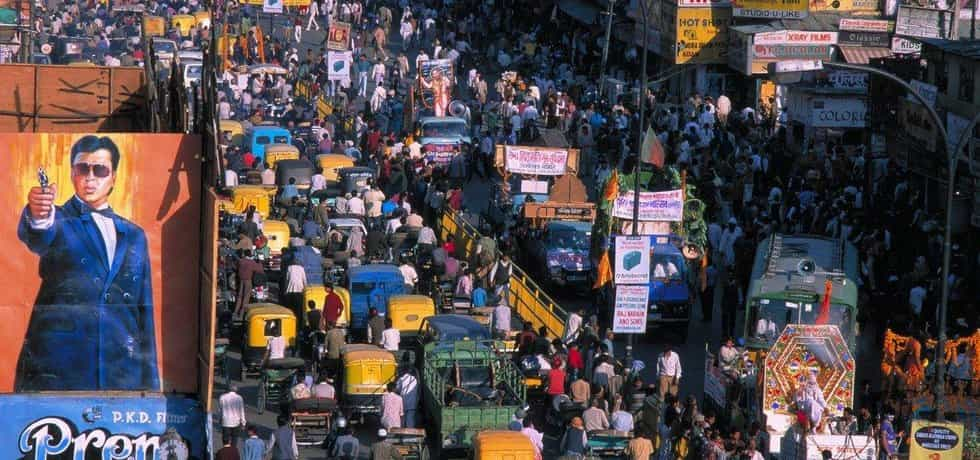 Indické město - přeplněná ulice
