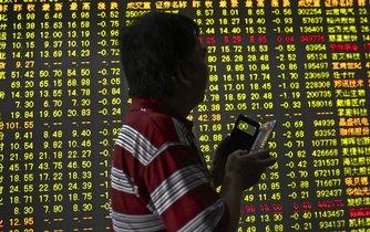 čínské akciové trhy