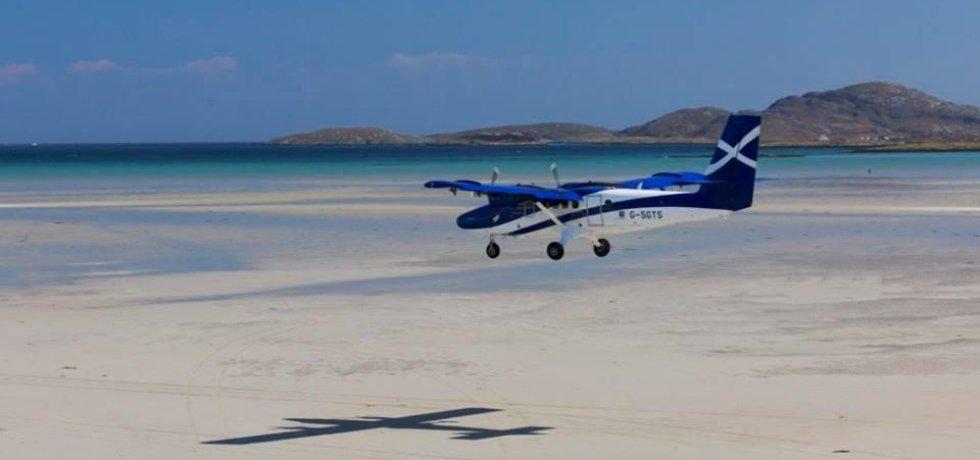 Přistání na ostrově Barra