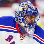 Henrik Lundqvist v dresu newyorských Rangers