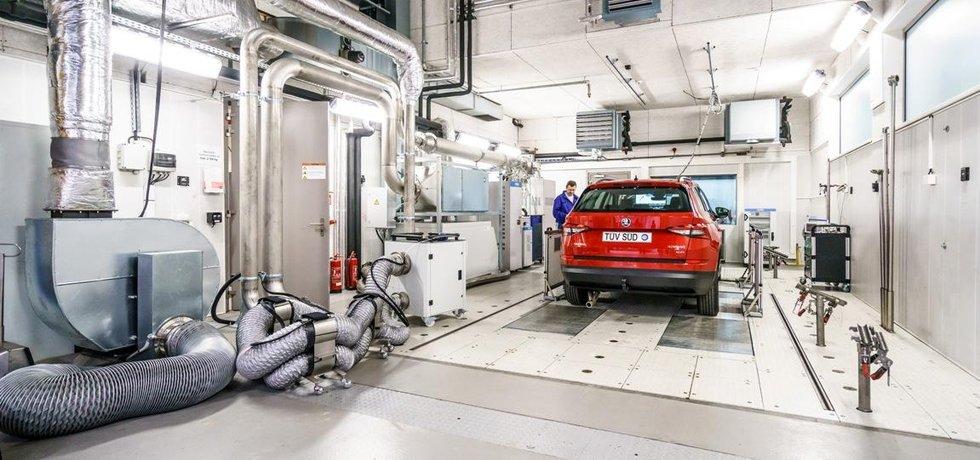 Emisní laboratoř v Roztokách u Prahy