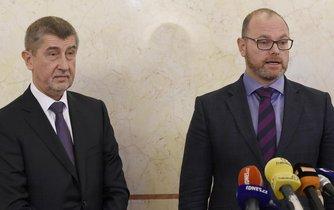 Premiér Andrej Babiš a ministr školství, mládeže a tělovýchovy Robert Plaga