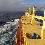 Nákladní loď na sypký náklad Nina Marie. Na této lodi sloužil Jaroslav Hornof v roce 2013.