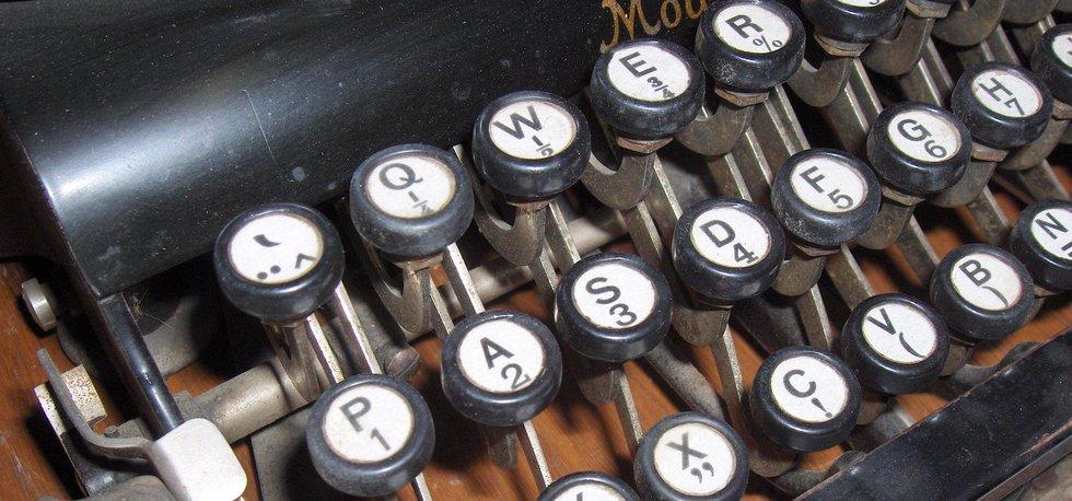 psací stroj, ilustrační foto