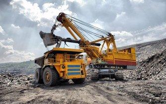 Těžba železné rudy, ilustrační foto