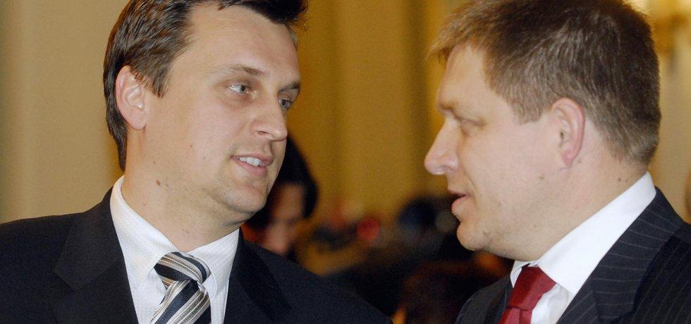 Andrej Danko (vlevo) a Róbert Fico.