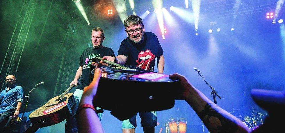 Pořadatelé festivalu Rock for People Michal Thomes a Petr Fořt.