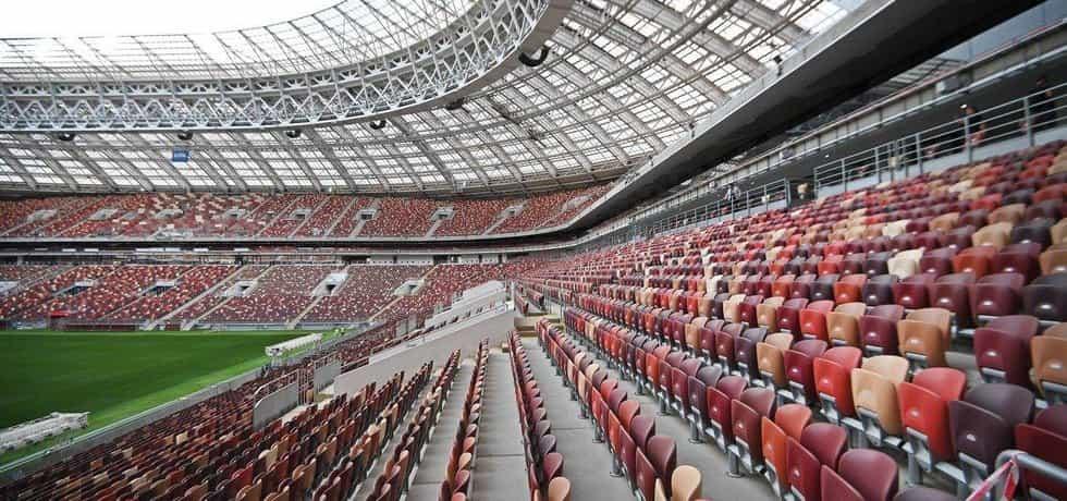 Fotbalový stadion Lužniki v Moskvě
