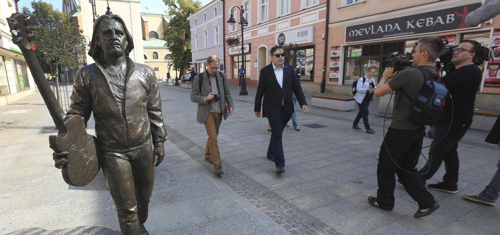 Michail Saakašvili před prvním pokusem o přechod hranice