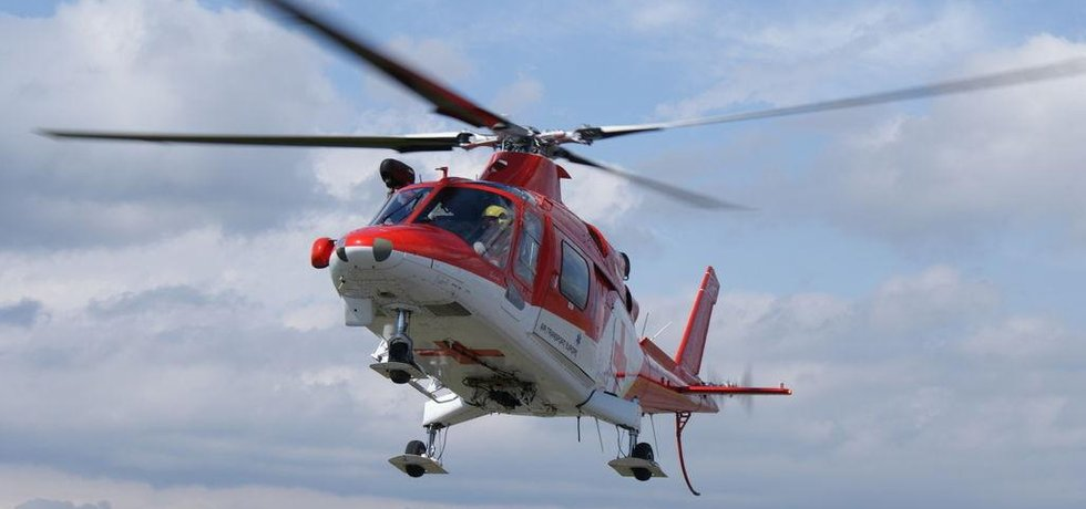 Vrtulník společnosti Air Transport Europe