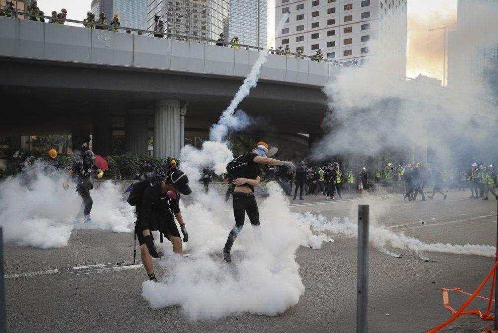 Demonstrace v Hongkongu, ilustrační foto