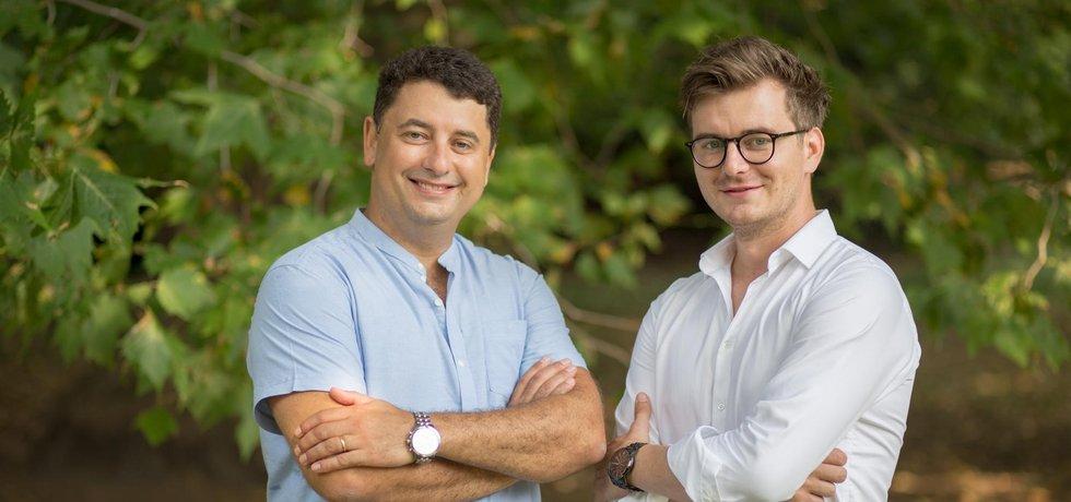 Zakladatelé aplikace Liftago Juraj Atlas s Ondřejem Krátkým