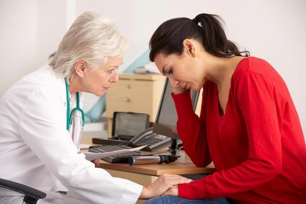 praktik, pacientka, deprese, smutek