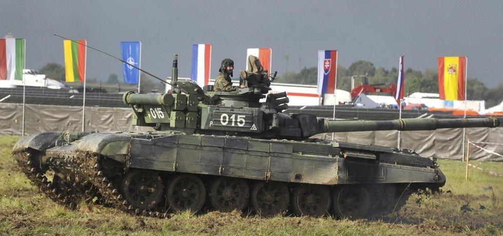 Ukázka jízdy tanku T-72