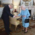Boris Johnson na audienci u královny Alžběty II.