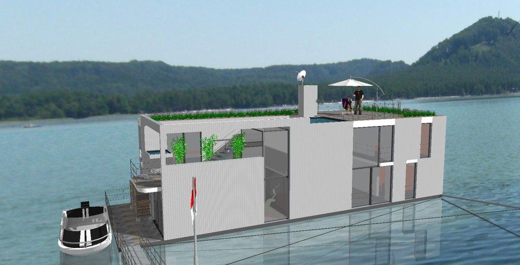 Bydlení na vodě bez nutnosti kupovat stavební parcelu s inženýrskými sítěmi.
