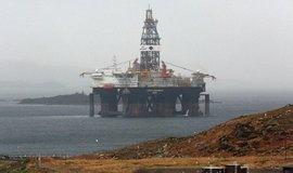 Ropná plošina u skotských břehů, ilustrační foto