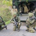 Příslušníci 41. mechanizovaného praporu Armády České republiky během cvičení na Doupově