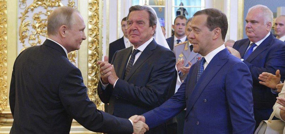Vladimir Putin a Dmitrij Medveděv
