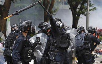 Demonstrace v Hongkongu - ilustrační foto