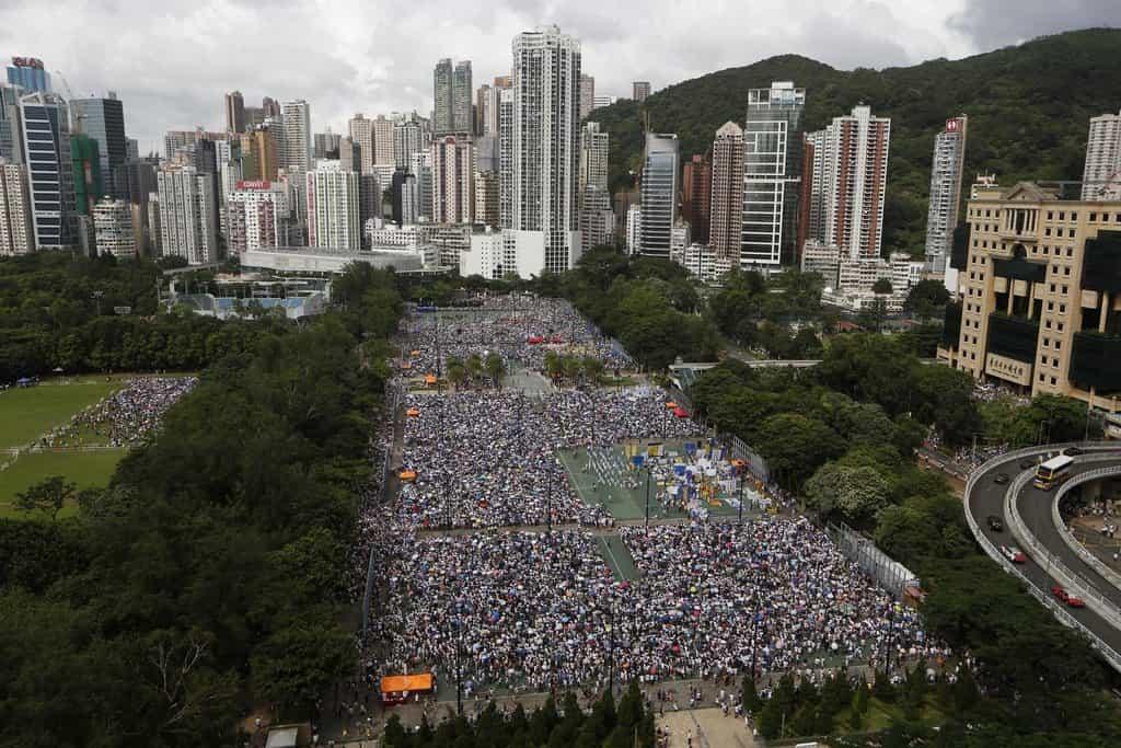 Demonstrace za posílení demokratických svobod v Hongkongu