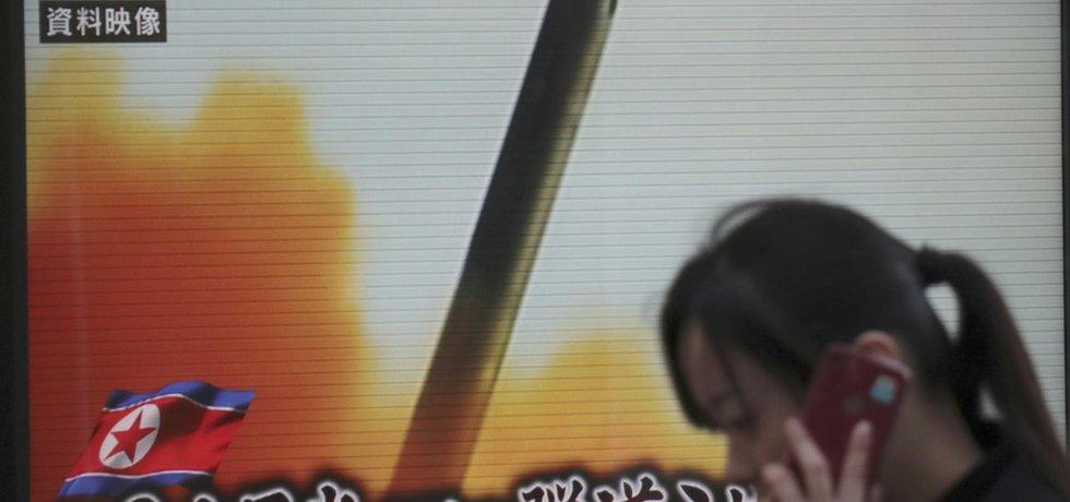 Raketa dopadla do moře zhruba 250 kilometrů západně od severní částí japonského ostrova Honšú