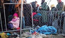 Migranti na řecko-makedonské hranici u Idomeni