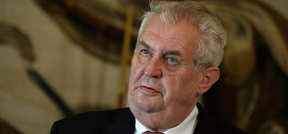 Prezident České republiky Miloš Zeman (Zdroj: čtk)